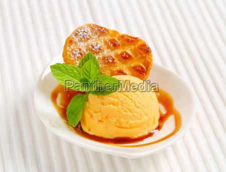 small dutch cake with ice cream