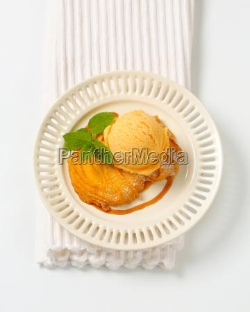 spritz cookie with ice cream