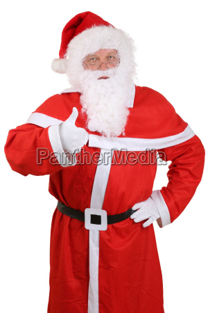 santa, claus, portrait, on, christmas, thumbs - 14518611