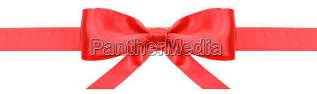 red ribbon and symmetric bow with