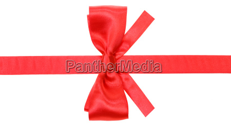 real red bow with square cut