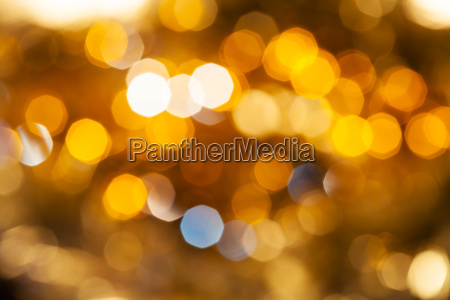 yellow brown blurred shimmering christmas lights