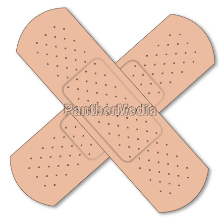 two first aid plasters