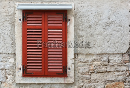 shutter at an old house in