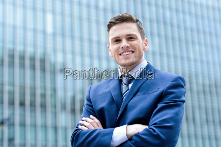 businessman standing at outdoors