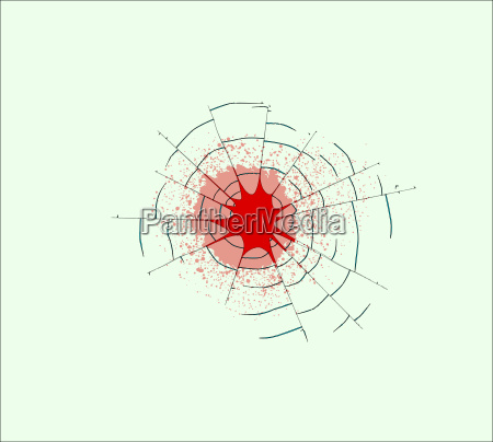 single bullet holes in glass