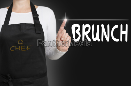 brunch background touchscreen cook served