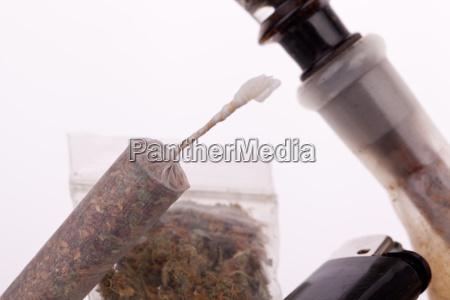 cannabis marijuana with water pfeifer and