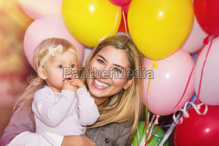 birthday party of baby girl