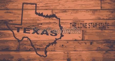 texas map brand