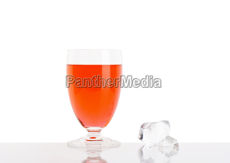 glass of fresh red juice