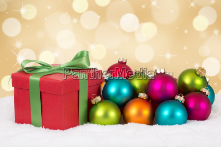 christmas gifts on christmas background with