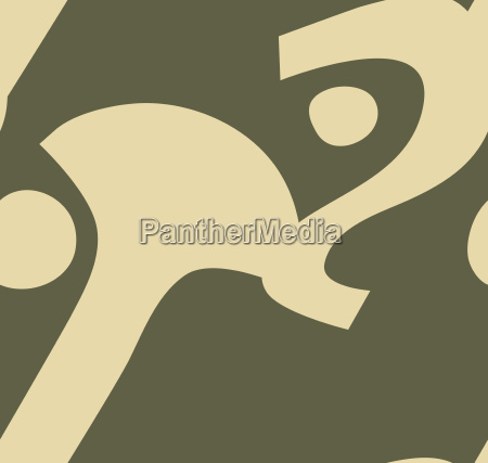 abstract face in brown pattern