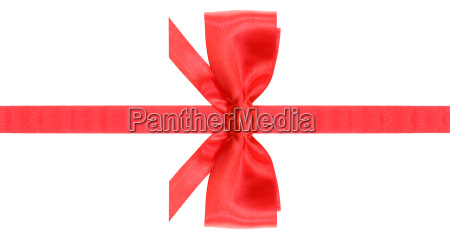 symmetric red bow with horizontal cuts