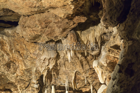 stalactites and stalagmites in cave