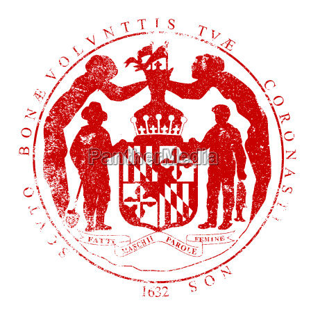 maryland seal rubber stamp