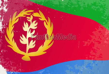 eritrea flag grunge