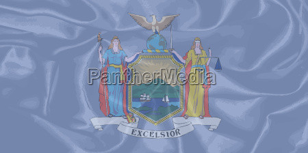 new york state silk flag