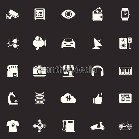 hitechnology icons on gray background