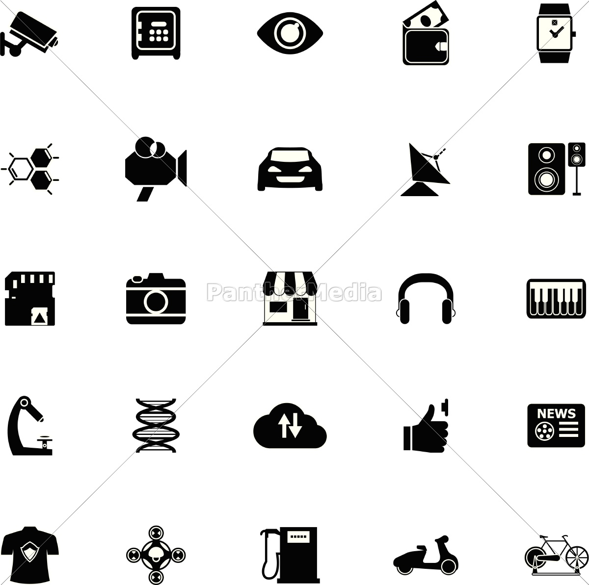 hitechnology, icons, on, white, background - 14594807