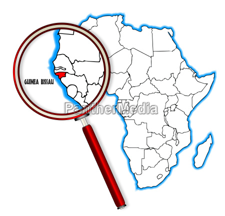 guinea bissau under a magnifying glass