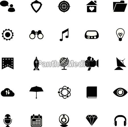 seo icons on white background
