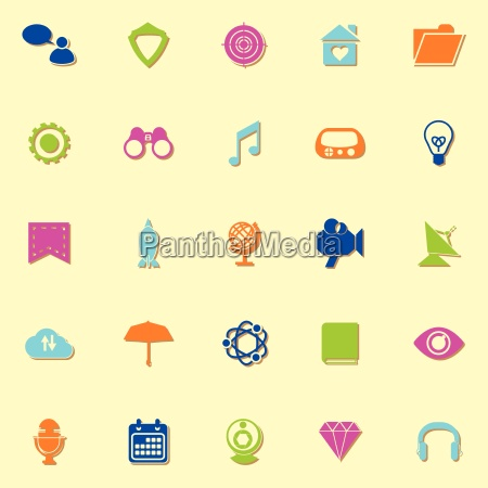 seo neon icons with shadow