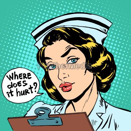 where does it hurt nurse question