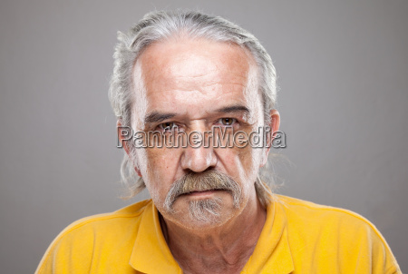 portriat of an elderly man