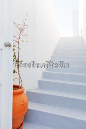 white villa house in oia santorini