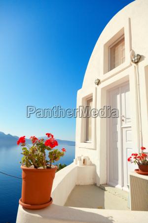 summer resort in oia santorini summer