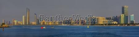 panorama skyline von abu dhabi arabische