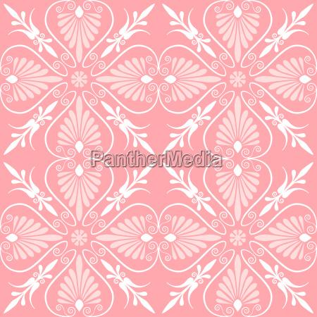 vector set seamless floral ornament
