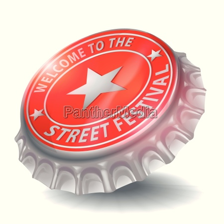 bottle cap welcome to the street