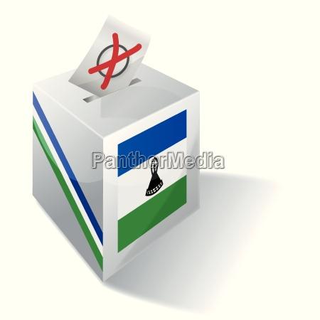 election box lesotho