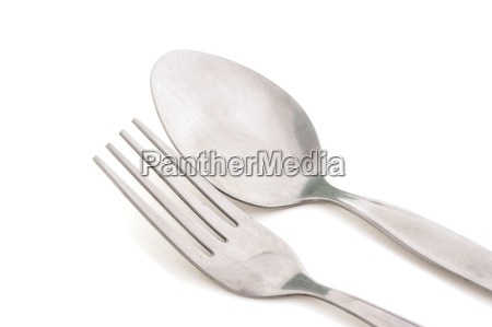 old silver fork and spoon