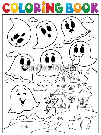 coloring book ghost theme 4