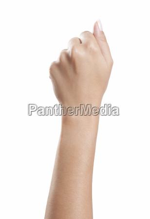 fist womens hand