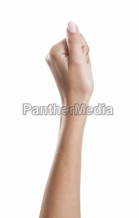 woman hand thumb