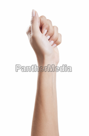woman hand fist