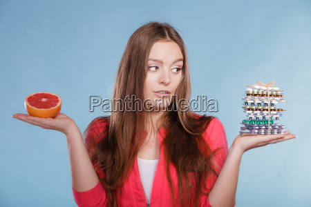 woman with weight loss diet pills