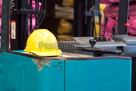 safety helmets in industry place