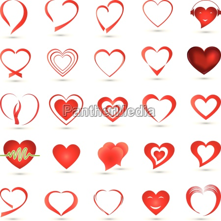 hearts collection logo button