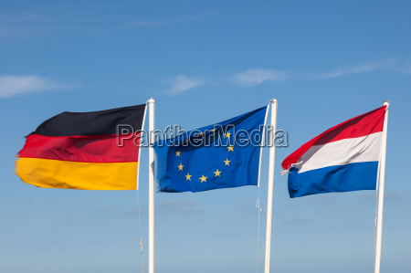 flags of germany netherlands and the