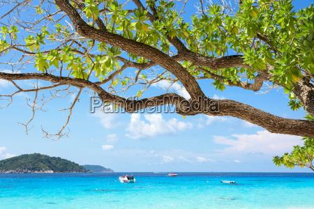 beautiful blue sea at koh miang