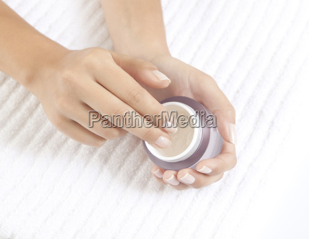 hands with care cream
