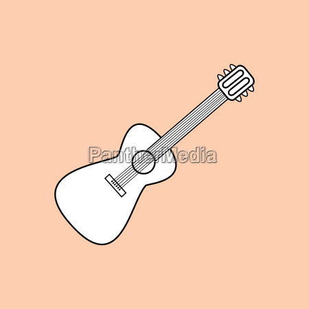guitar is a stringed musical instrument