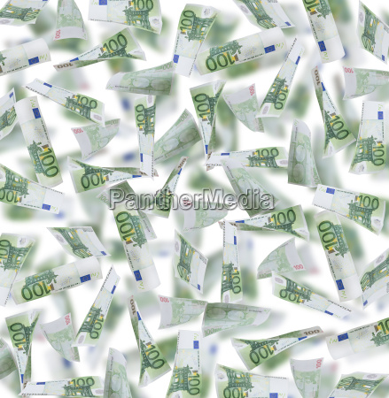 hundred euro notes background