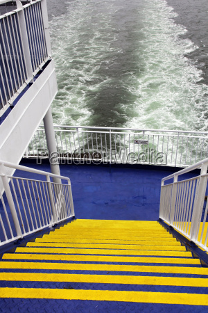 on the ferry a staircase leads
