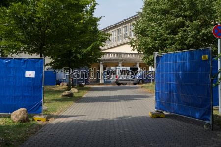 emergency refugee shelter ernst grube halle